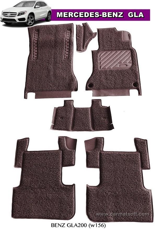พรมดักฝุ่นไวนิล BENZ GLA200 ,GLA250 รีดขอบ สีช็อคโกแลต