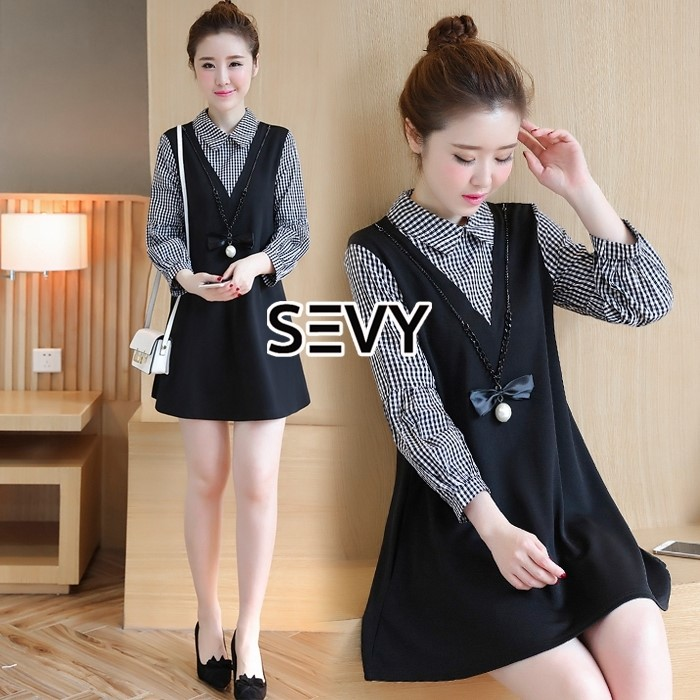 Mini dress ลุคคุณหนูน่ารักๆ มาในโทนสีดำ