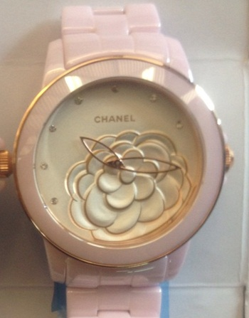 นาฬิกาข้อมือ Chanel J12 Flower Limited Edition 2013 ชมพู