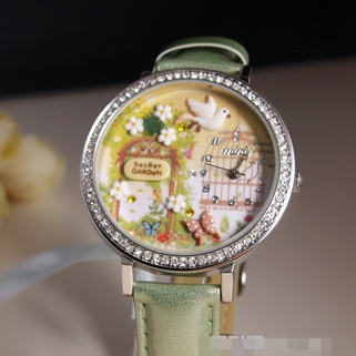 [Preorder] นาฬิกาข้อมือแฮนด์เมค Secret Garden Japan handmade polymer clay watch Secret Garden Korean genuine MINI table cartoon watches female table