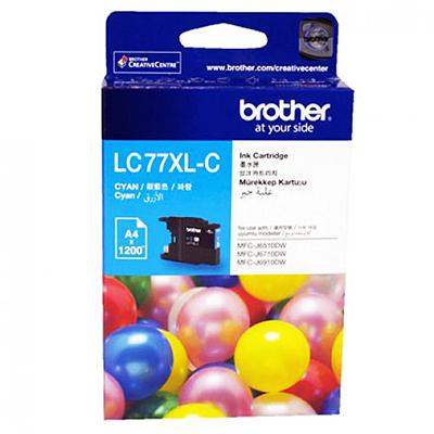 BROTHER INK CARTRIDGE LC-77XLC สีฟ้า