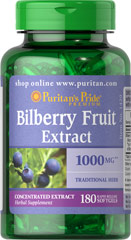 Puritan's Pride - Bilberry 1000 mg 180 Softgels