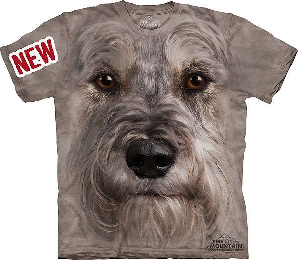 Mountain Big Face Miniature Schnauzer Dog T-Shirts