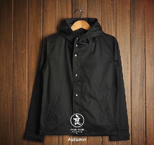 Pre order เสื้อเจ็กเก็ต ( jacket Slim black hooded)