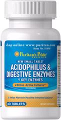 Puritan's Pride - Acidophilus & Digestive Enzymes 60 Tablets