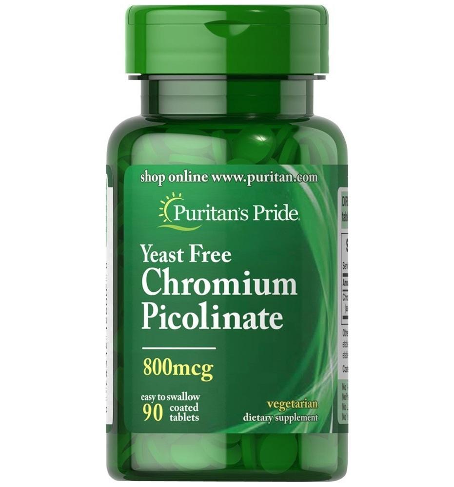 Puritan's Pride Chromium Picolinate 800 mcg Yeast Free / 90 Tablets