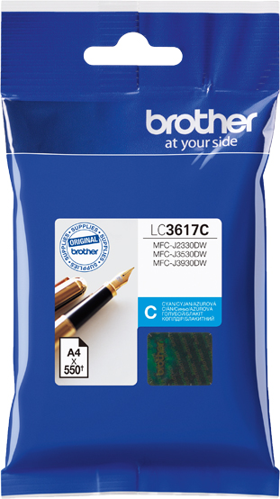 BROTHER INK CARTRIDGE LC-3617C สีฟ้า