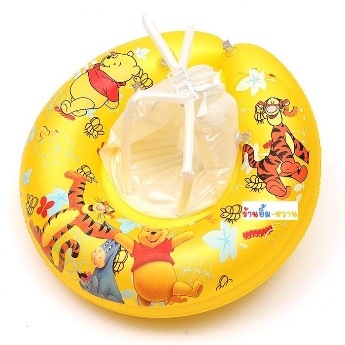 สีสวย คุณภาพดี Size M Pooh Swimming Trainer (6 เดือน - 2 ขวบ) ห่วงยางเล่นน้ำเด็กเล็กพยุงหลังล็อค 2 ชั้นโอบรอบตัวสุดฮิต ( -วิธีใช้ดูในคลิปวีดีโอค่ะ) (สายพาดบ่าไม่จำเป็นต้องเป่านะคะ ตัวปีกนางฟ้าโตแล้วไม่ต้องเป่า)