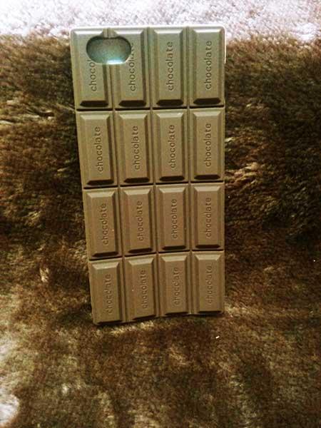 case iphone 4/4s ซิลิโคน Chocolate