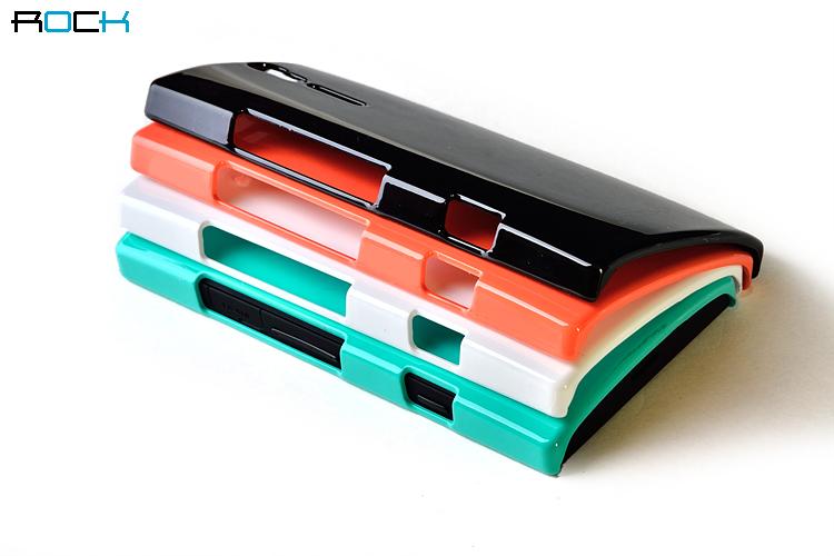 เคส Sony Ericsson Xperia S LT26i - ROCK color ful (Hard Case) ผิวมันวาว หรูหรา นุ่ม จับแล้วเบาสบาย สีสันสดใส ป้องกันตัวเครื่องจากรอยขีดข่วน การกระแทกได้ดี