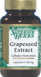 Swanson Vitamins - Grapeseed Extract 100 mg 60 Capsules