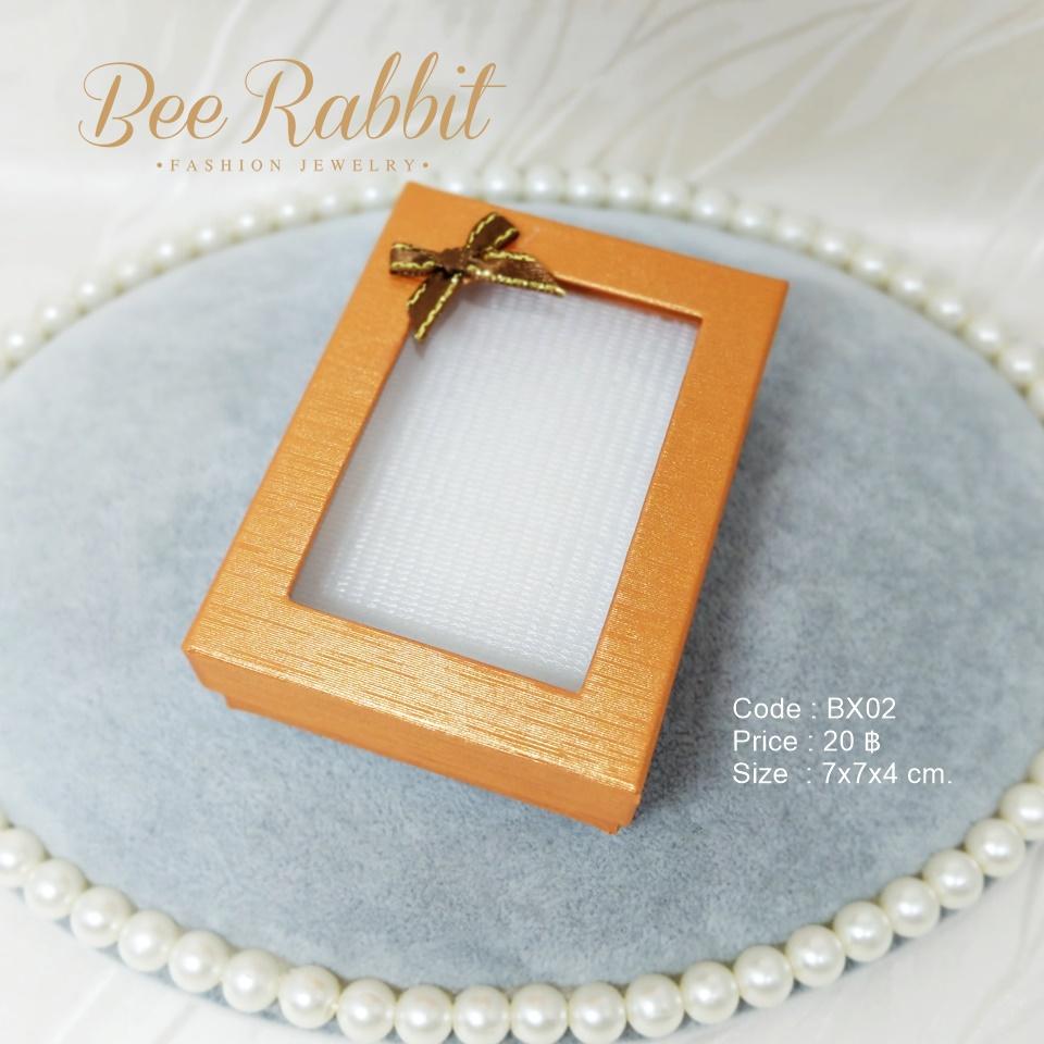 กล่องของขวัญแบบฝาครอบเจาะหน้าต่าง สีน้ำตาลทอง