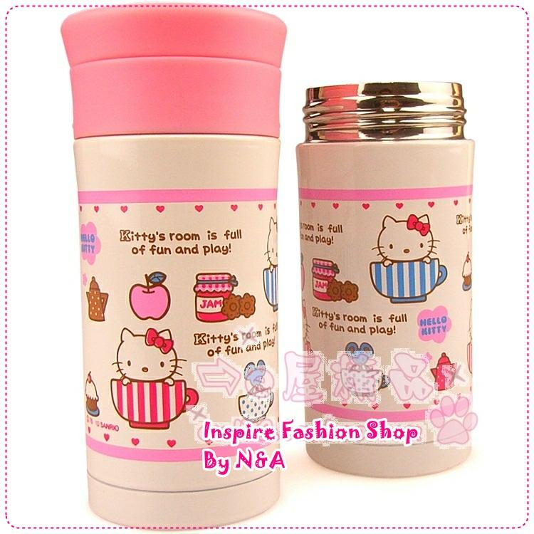 กระบอกเก็บความร้อน/เย็น Hello Kitty สีชมพู New Year berserk Hello Kitty vacuum cup stainless steel thermos Double Stainless Steel Vacuum Flask