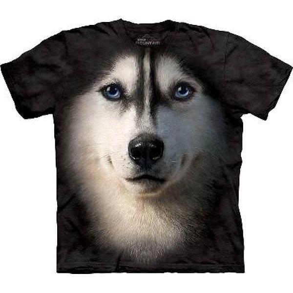 Mountain Big Face Siberian Husky Dog T-Shirts