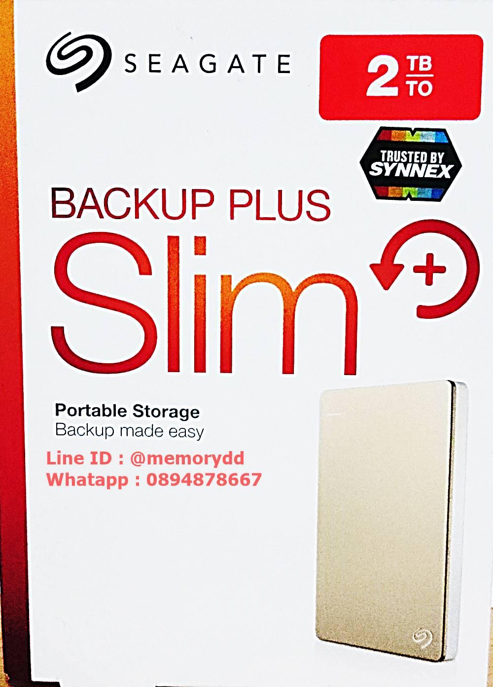 """Seagate Backup Plus Slim 2TB 2.5"""" (Gold) USB3.0 (STDR2000307)"""