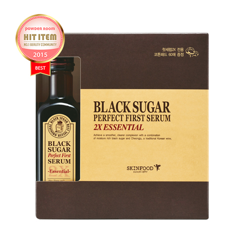 Skinfood Black Sugar Perfect First Serum 2X-essential-(skin-brightening and Anti-wrinkle Effects) 120 ml.