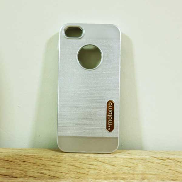 case iphone 5/5s/SE เคสยางMotomo สีเงิน