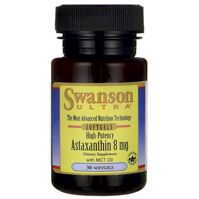 Swanson Ultra High Potency Astaxanthin 8 mg/ 30 Sgels