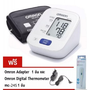 OMRON เครื่องวัดความดัน รุ่น HEM-7121 (30 Memory รับประกัน 3 ปี พร้อม Adapter) ***แถมฟรี ปรอท Digital MC-245