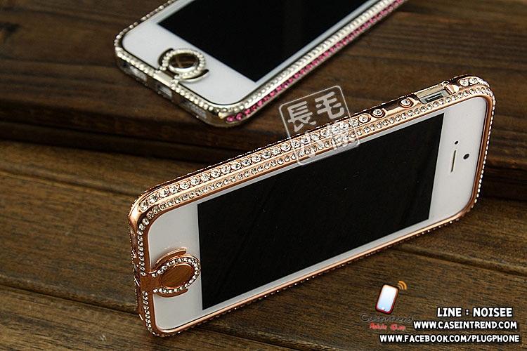 เคส iPhone 5 กรอบเพชร (เพชรคลุมปุ่ม Home)