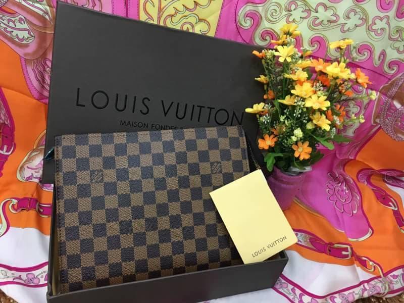 กระเป๋าแบรนด์LOUIS VUITTON ครัช ผู้ชาย งานHiend หนังแท้