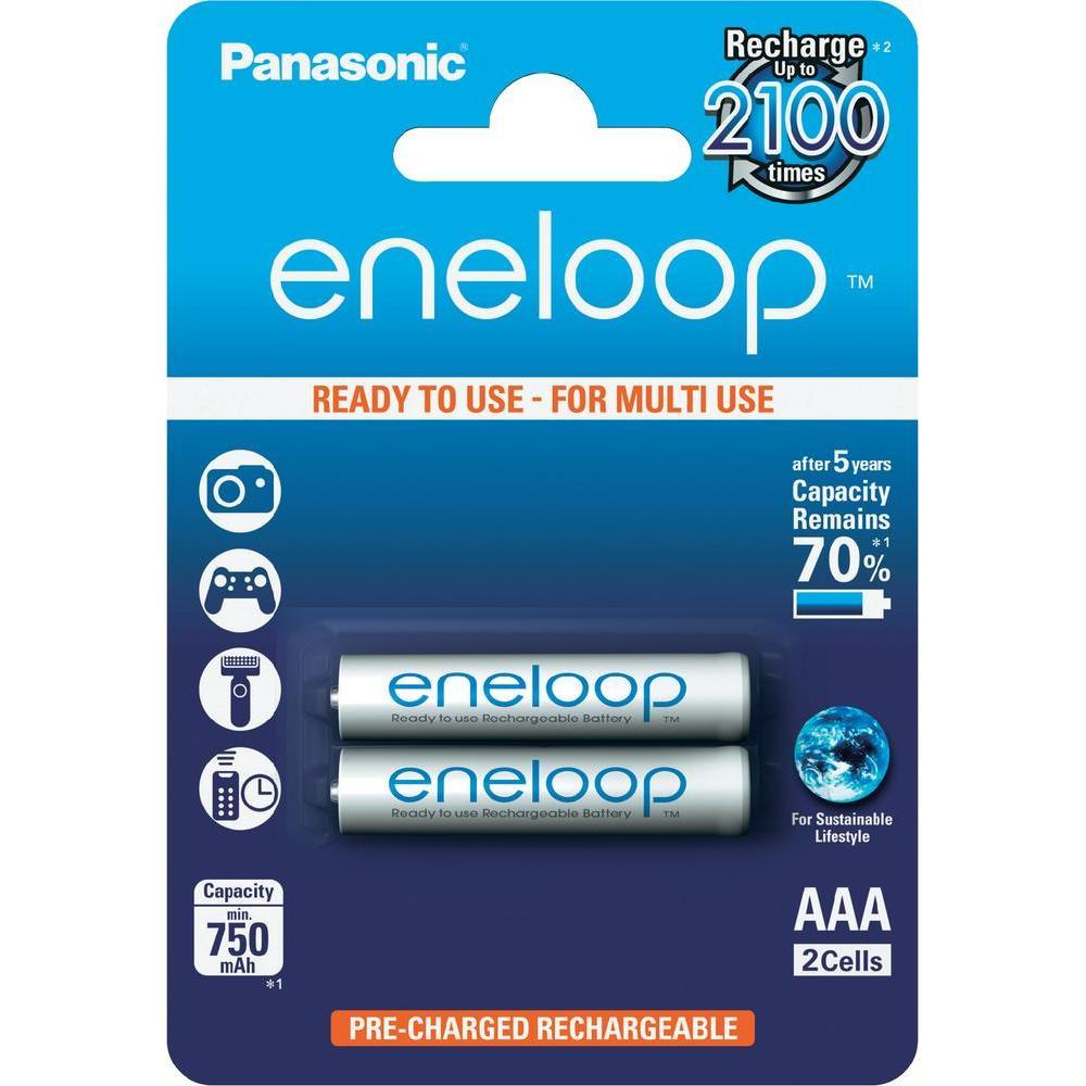 ถ่านชาร์จ Panasonic Eneloop AAA 2 ก้อน แพคกระดาษ ของแท้