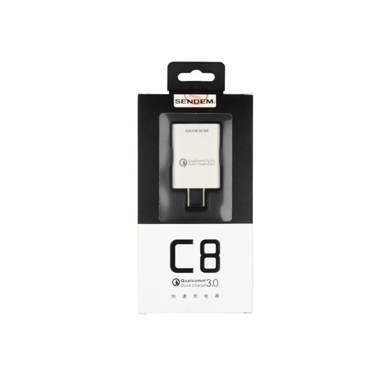 หัวชาร์จ SENDEM รุ่น C8 Quick Charge 3.0 ชาร์จเร็วมาก