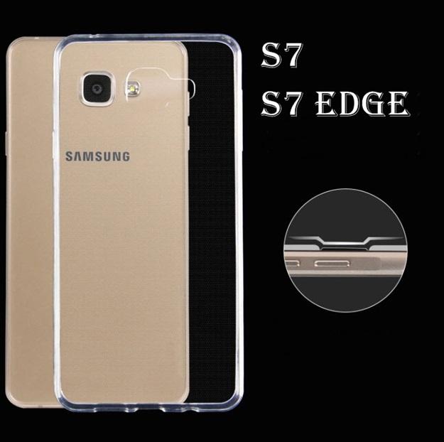 (พร้อมส่ง)เคสมือถือซัมซุง Case Samsung Galaxy S7 Edge เคสนิ่มใสพื้นหลังกันรอยนิ้วมือ
