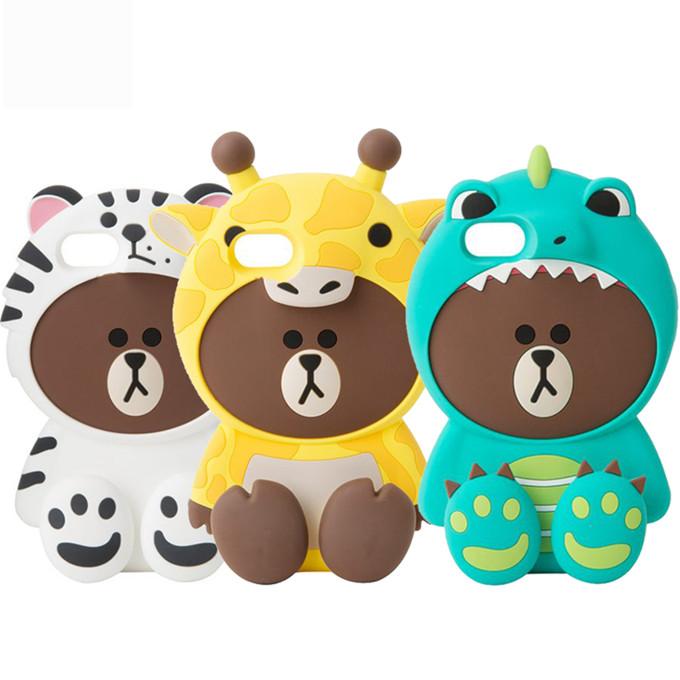 (687-005)เคสมือถือไอโฟน case iphone 5/5s/SE เคสนิ่ม Line Friends 3D