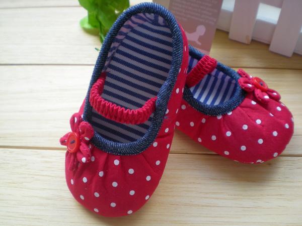 BE2038 (Pre) รองเท้าผ้า สาวน้อย (0-1 ขวบ)
