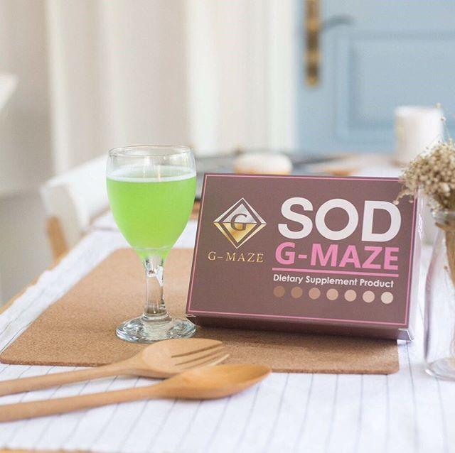 SOD G-Maze อยากหน้าเด็กก็ต้องดื่มน้ำเด็ก บรรจุ 10 ซอง