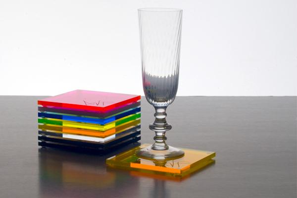 จานรองแก้ว อะครีลิค ACRYLIC COASTERS (ขั้นต่ำ 300 ชิ้น)