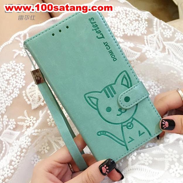 (พร้อมส่ง)เคสมือถือซัมซุง Case Note5 เคสนิ่มสมุดเปิดข้างลายแมวน่ารักๆ DOMI CAT