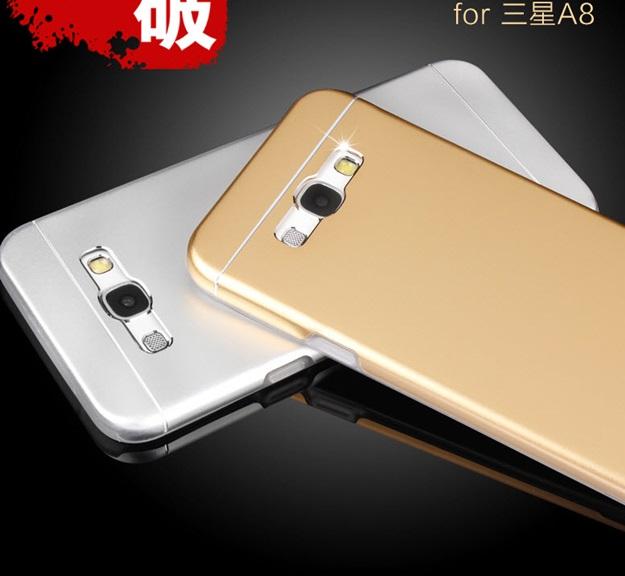 (พร้อมส่ง)เคสมือถือซัมซุง Case Samsung A8 เคสนิ่มฝาหลังโลหะแบบบางสไตล์ 2 ชิ้น