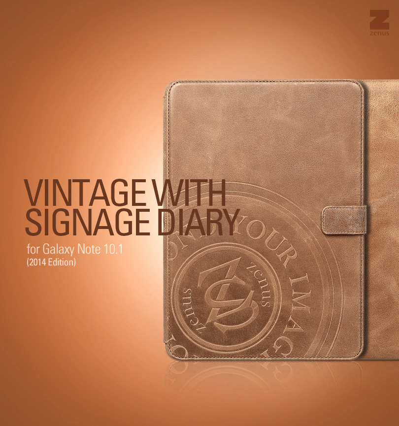 Zenus : Vintage With Signage Diary Cover Case for Samsung Galaxy Note 10.1 (2014 Edition)