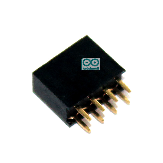 2.54mm pitch female double row female socket 2x4 pin