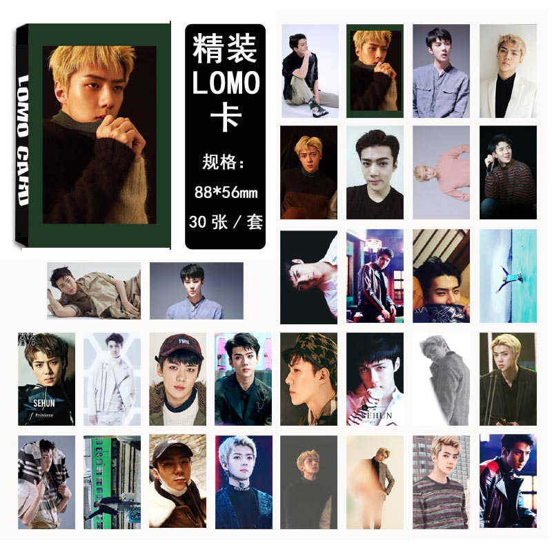 Lomo card set EXO FOR LIFE-SEHUN (30pc)