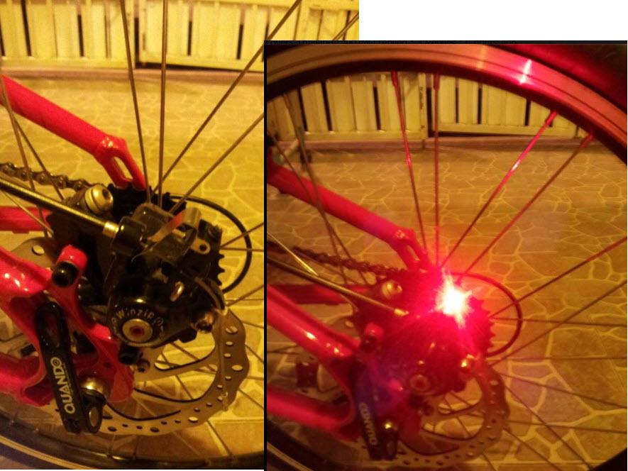ไฟเบรคจักรยาน ไร้สาย Made in Taiwan ไม่ใช่ของจีน