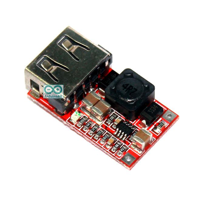 โมดูลแปลงไฟ 6-24V เป็น 5V 2A สูงสุด 3A แบบ USB