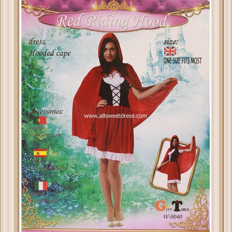 ชุดแฟนซีหนูน้อยหมวกแดง Red Riding Hood สวยน่ารักจัดเต็มสำหรับไปงานปาร์ตี้