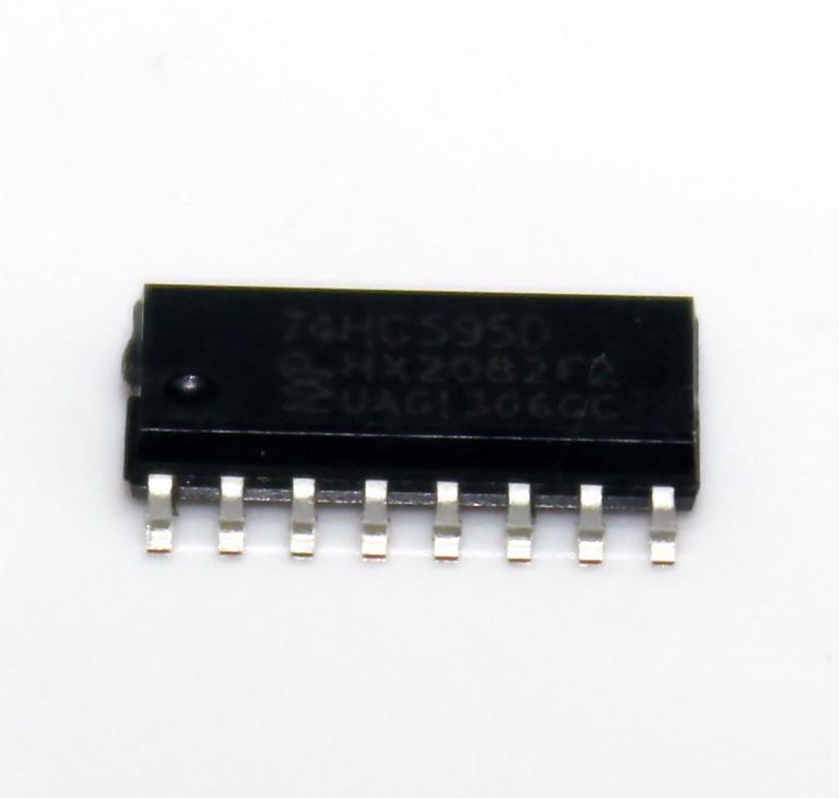 IC 74HC595D NXP 16SOIC 74HC595 HC595 แบบเซอร์เฟสเมาส์
