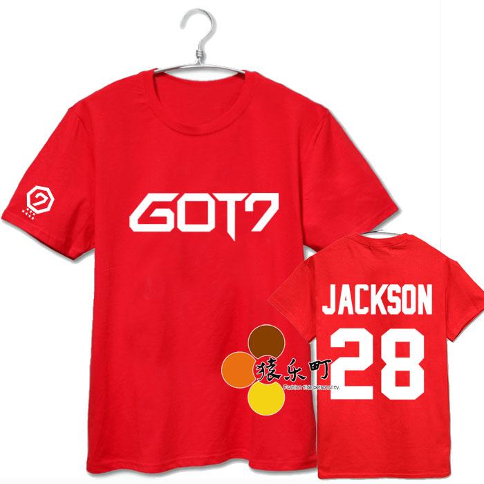 เสื้อยืด GOT7 Code Number -ระบุสี/ ไซต์/สมาชิก-