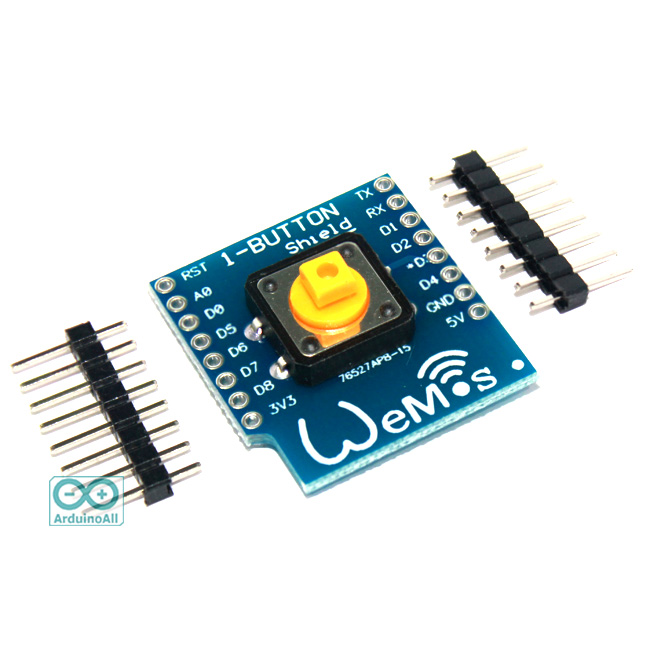 WeMos D1 Mini Switch Button Shield