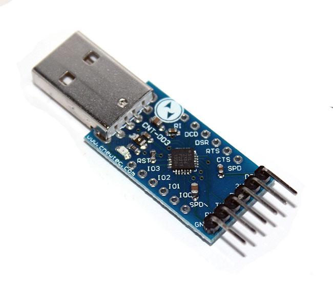 โมดูล USB TTL CP2104 CP2102 Serial Converter USB 2.0 To TTL UART 6PIN Module พร้อมสายไฟ