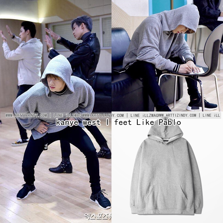 Hoodie kanye west I feet Like Pablo GRAY Sty.Mark GOT7 -ระบุไซต์- (S/M หมด)