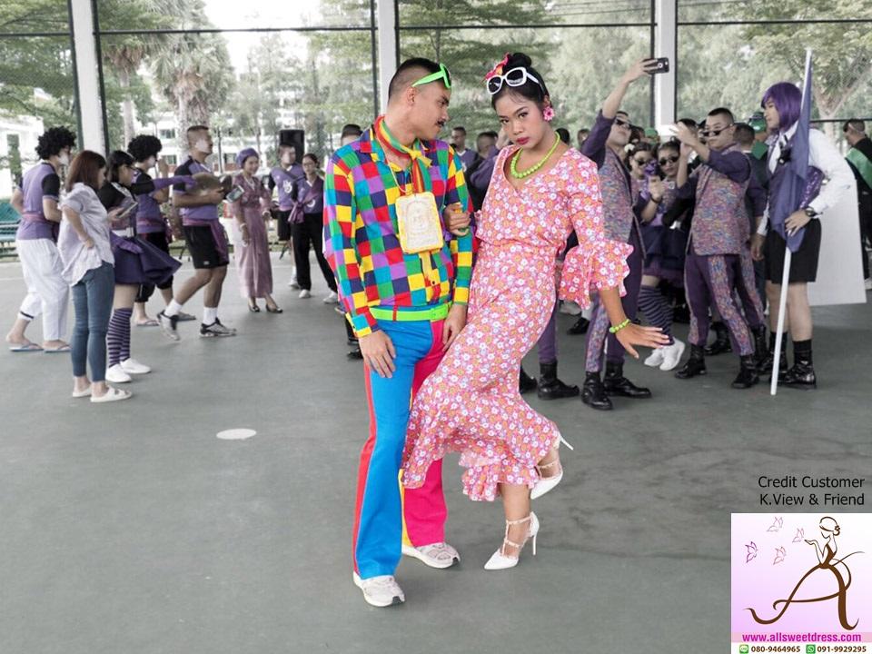 รีวิวชุดแหยม เจ้ย ยโสธร ละครมนต์รักลูกทุ่ง สีสันสดๆ ของร้านเช่าชุด allsweetdress ฝั่งธน จากน้องวิวกับเพื่อนที่สามพรานนครปฐม มาใช้บริการค่ะ