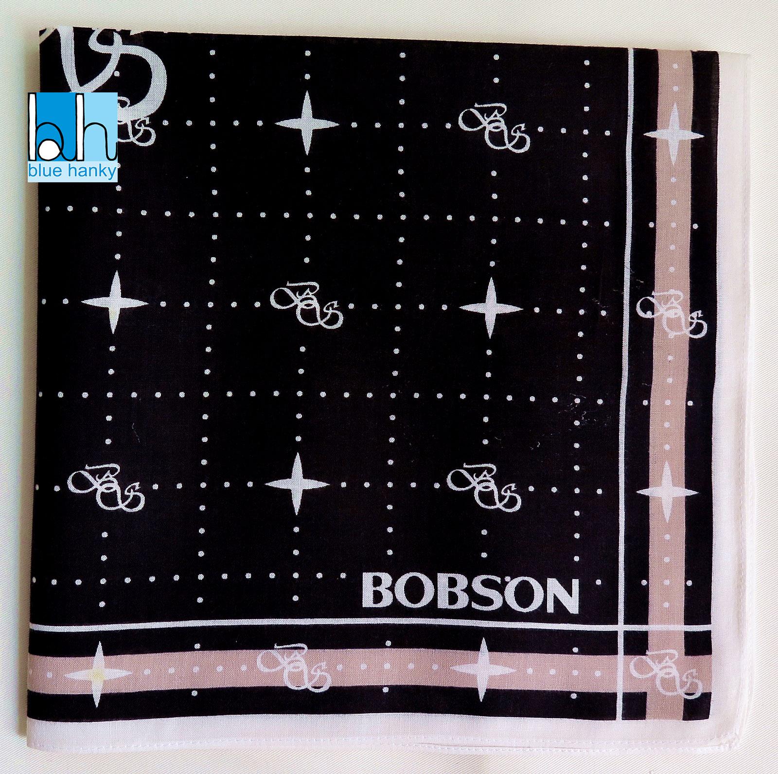 """#261 21"""" BOBSON ผ้าเช็ดหน้ามือ2 สภาพดี ผ้าเช็ดหน้าผืนใหญ่"""