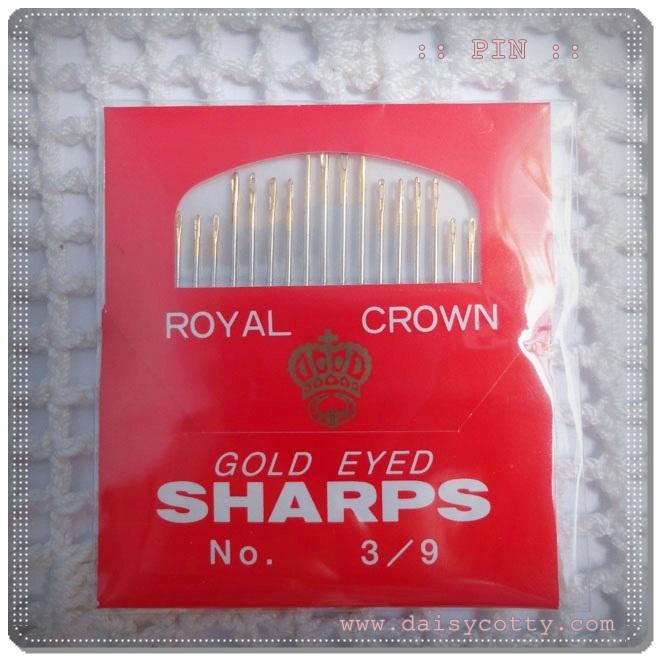 เข็มอย่างดี หัวสีทอง