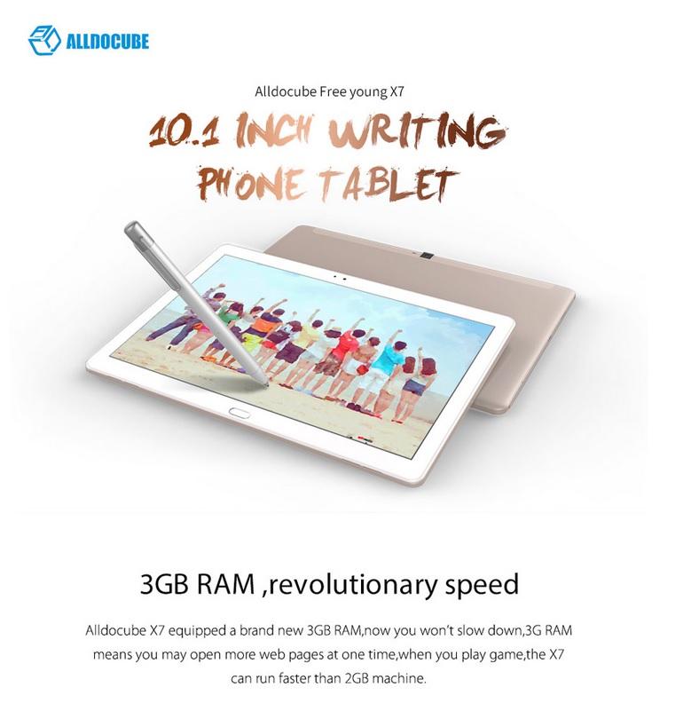 ALLDOCUBE Free Young X7/T10 Plus ใส่ซิม โทรได้ รองรับ 4G 10.1 นิ้ว IPS Android 6.0 MTK MT8783V-CT Octa Core 3GB RAM 32GB ROM