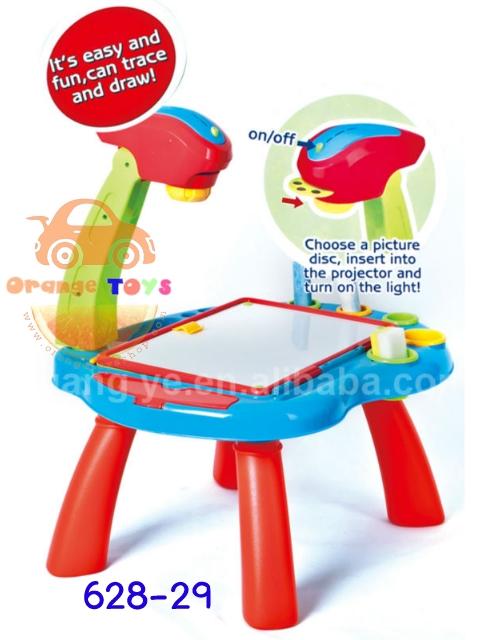 โต๊ะ Projector Desk Learning Easel All in 1 Multi-function Learning Desk With Kids Projector Lamp